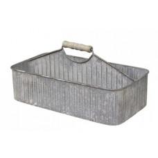 Zink kasse med håndtag