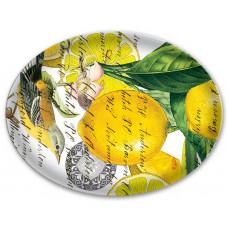 Oval sæbeskål citron Basil Michel Design Works