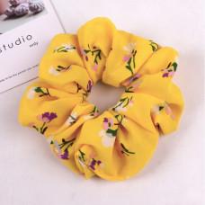 Hår elastik Scrunchie gul