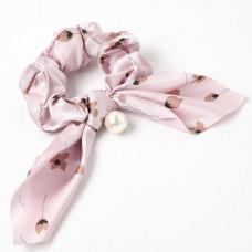 Hår elastik med perle rosa