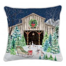Pude med fyld CHRISTMAS SNOW Michel Design Works