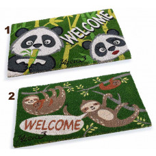 Dørmåtte Kokos Panda og aber