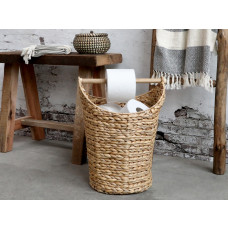 Kurv med håndtag til toiletpapir Natur
