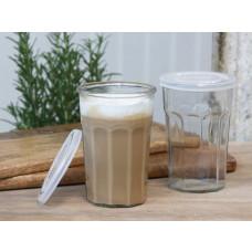 Fransk latte Glas m. riller