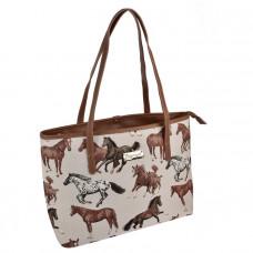 håndtaske med heste