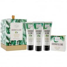 Coconut & Lime Gavesæt Scottish fine soap company