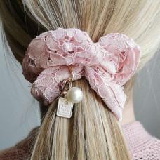Hår elastik Scrunchie blonde Ros