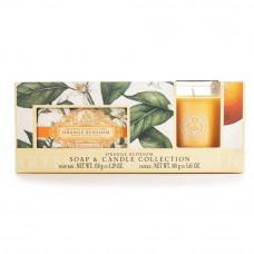 Håndsæbe og duftlys sæt Orange blossom