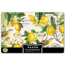 Dækkeservietter papirblok 25 stk Lemon Basil Michel design Works