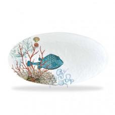 Ovalt Fad SEA LIFE, melamin  Michel Design Works