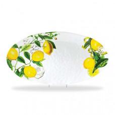 Ovalt melamin fad med citroner fra Michel design works
