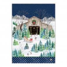 Viskestykke CHRISTMAS SNOW Michel design works